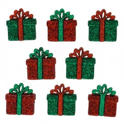 Small glitter presents