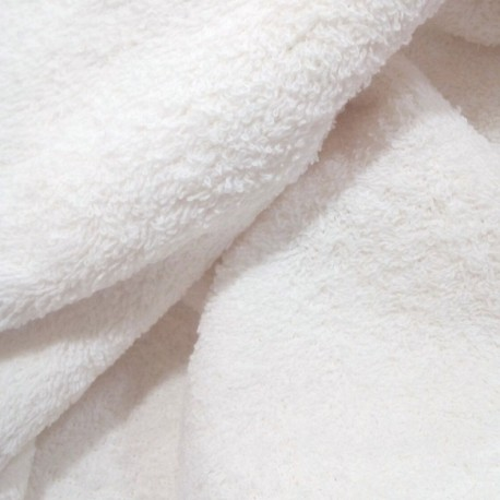 Tela de Rizo-Toalla Blanca