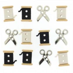 Sew cute spools / scissors