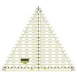 Regla patch triangulo 20cm Ideas