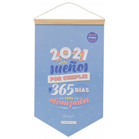 CALENDARIO DE PARED - 2021 SUEÑOS POR CUMPLIR