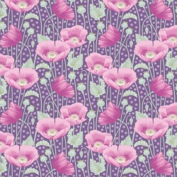 Tela Patch 100306 Poppies Lilac